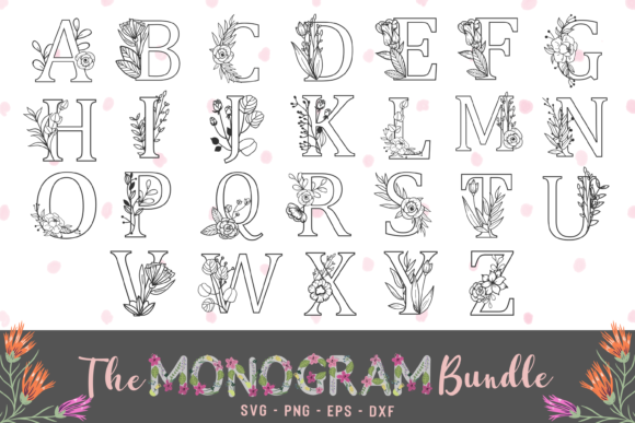 The Monogram Bundle Graphic Crafts By Graphipedia
