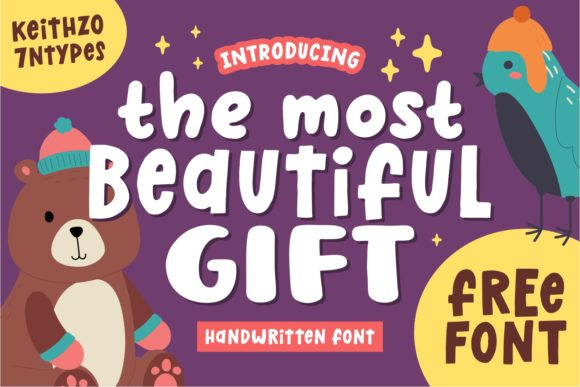Print on Demand: The Most Beautiful Gift Script & Handwritten Font By Keithzo (7NTypes)