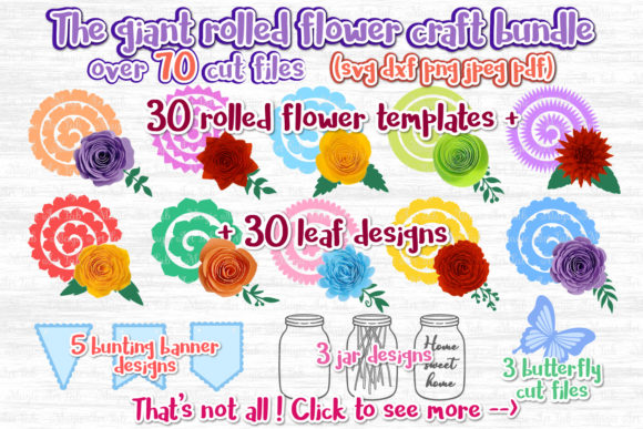 The Giant Rolled Flower Craft Bundle Graphic