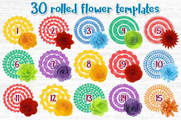 The Giant Rolled Flower Craft Bundle Graphic Download
