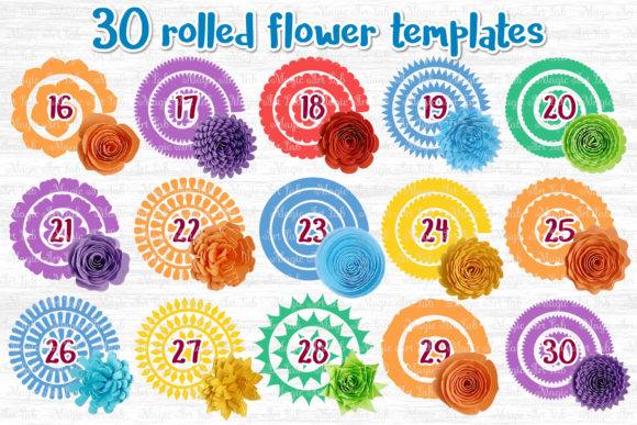 The Giant Rolled Flower Craft Bundle Graphic Item