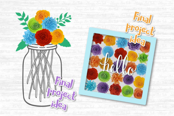 The Giant Rolled Flower Craft Bundle Graphic Image