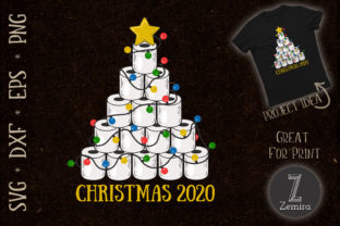 Print on Demand: Toilet Paper Christmas Tree 2020 Graphic Print Templates By Zemira 1