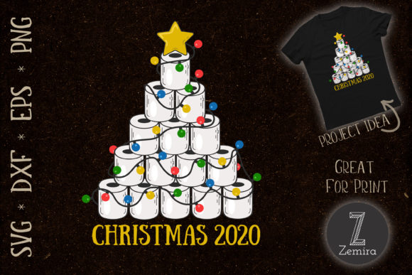 Print on Demand: Toilet Paper Christmas Tree 2020 Gráfico Print Templates Por Zemira