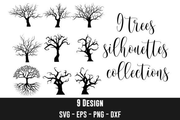 Trees Silhouette Clip Art Bundles Graphic Crafts By creation