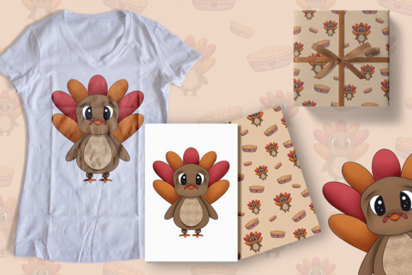 Print on Demand: Turkey Thanksgiving Clipart Graphic Illustrations By StudioAngelArts