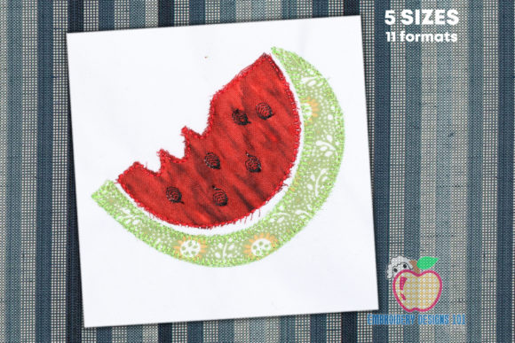 Watermelon Stitch Applique Forest & Trees Embroidery Design By embroiderydesigns101