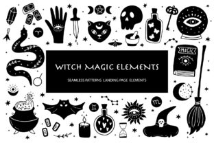Print on Demand: Witchcraft /Magical Elements Graphic Objects By alonasavchuk84