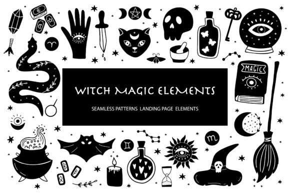 Witchcraft /Magical Elements Graphic Objects By alonasavchuk84