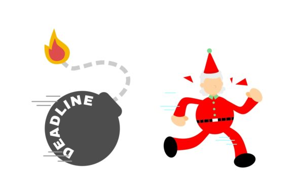 Christmas Santa Run from Time Bomb Graphic Illustrations By Ardwork