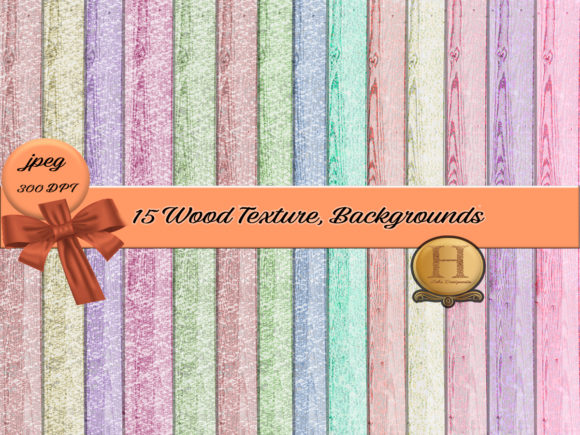 Print on Demand: Colored Wood Backgrounds Graphic Backgrounds By Heba Morsy
