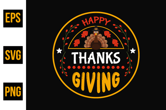 Print on Demand: Thanksgiving Typographic Quotes Design. Graphic Print Templates By ajgortee