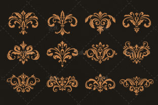 12 Variant Damask Stencil Graphic Backgrounds By AllmoStudio