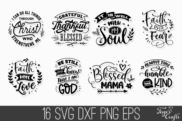 16 Faith & Inspirational Quotes Graphic Preview