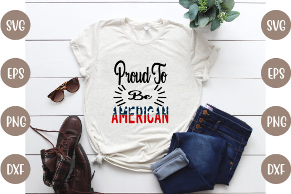 4th of July T-Shirt Design Graphic