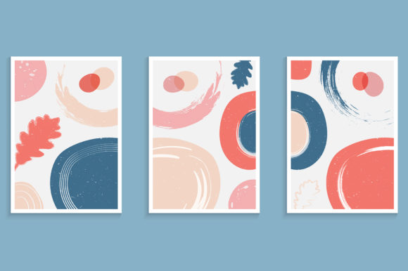 Abstract Poster in Pastel Color Graphic Backgrounds By medelwardi