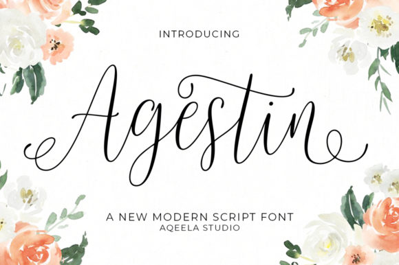 Print on Demand: Agestin Script & Handwritten Font By Aqeela Studio