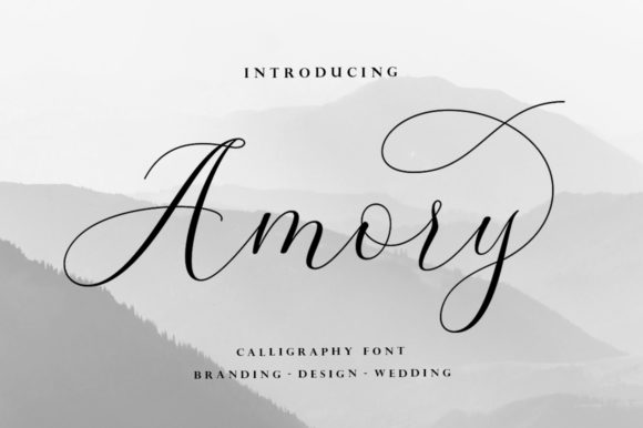 Print on Demand: Amory Script & Handwritten Font By Suza Studio