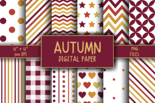 Print on Demand: Autumn Pattern Digital Paper Graphic Patterns By atlasart