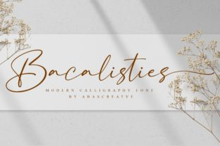 Print on Demand: Bacalisties Manuscrita Fuente Por AbasCreative