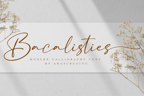 Print on Demand: Bacalisties Script & Handwritten Font By AbasCreative