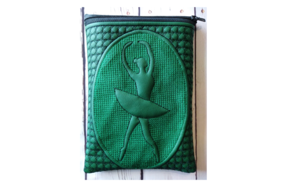 Ballerina Zippered Bag - in the Hoop Embroidery Item
