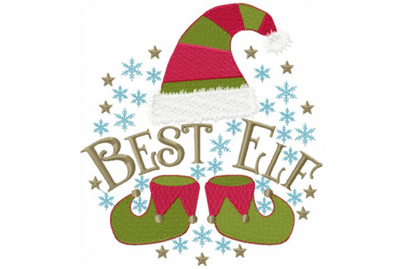 Best Elf Christmas Embroidery Design By Sew Terific Designs