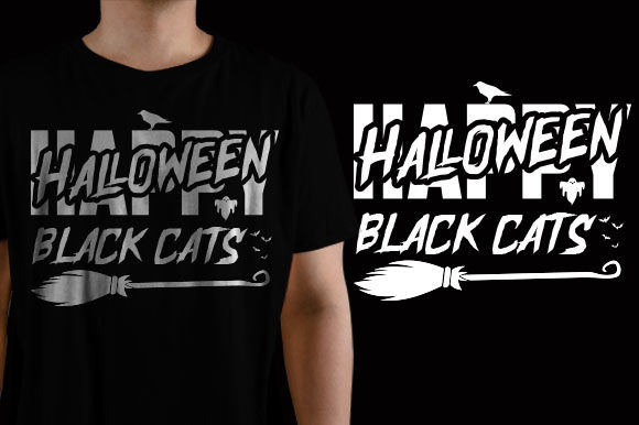 Black Cats Halloween Graphic Crafts By HASSHOO