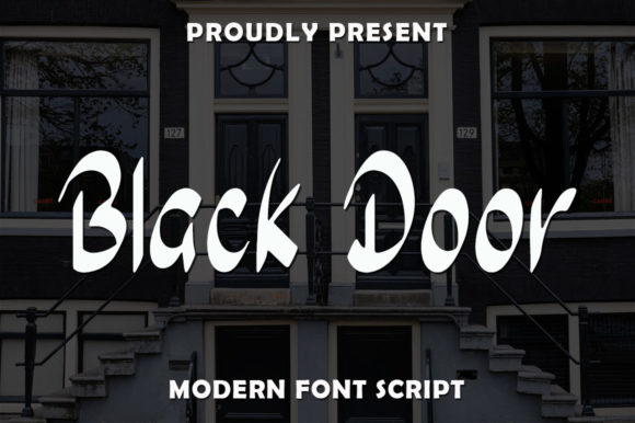 Print on Demand: Black Door Script & Handwritten Font By rangkaiaksara