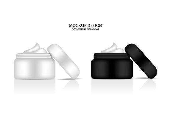 Blank Jar Black and White with Cream Graphic Product Mockups By Muhammad Rizky Klinsman