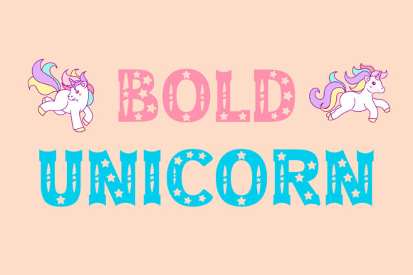 Print on Demand: Bold Unicorn Display Font By Vladimir Carrer