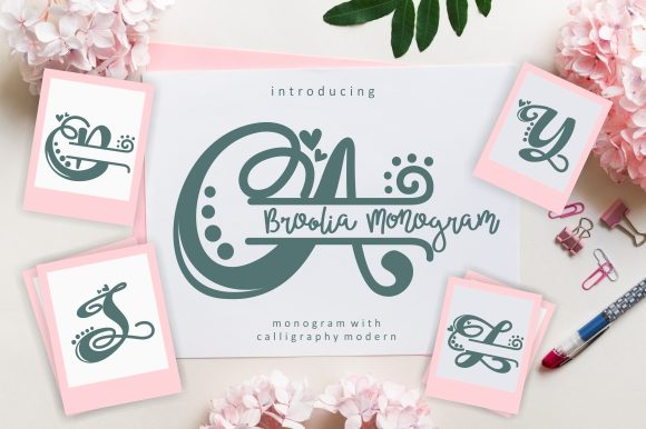 Print on Demand: Broolia Monogram Script & Handwritten Font By EKNOJI