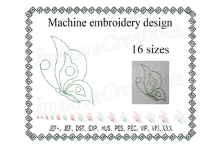 Butterfly Design Bugs & Insects Embroidery Design By ImilovaCreations