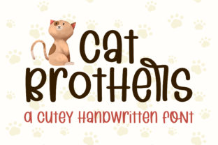 Print on Demand: Cat Brothers Script & Handwritten Font By BitongType