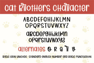 Print on Demand: Cat Brothers Script & Handwritten Font By BitongType 10