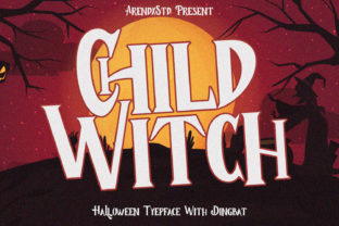 Print on Demand: Child Witch Display Font By Arendxstudio 1