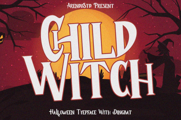 Print on Demand: Child Witch Display Font By Arendxstudio