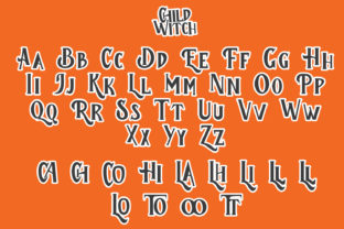 Print on Demand: Child Witch Display Font By Arendxstudio 7