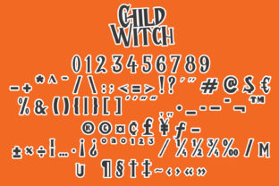 Print on Demand: Child Witch Display Font By Arendxstudio 8