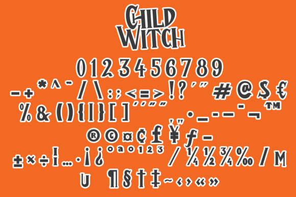 Child Witch Font Downloadable Digital File