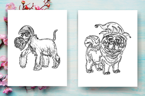 Christmas Dog Coloring Page For Kids Kdp Graphic By Sei Ripan Creative Fabrica