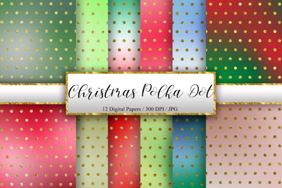Christmas Polka Dot Glitter Background Graphic Backgrounds By PinkPearly