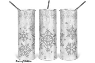 Print on Demand: Christmas Skinny Tumbler Sublimation Graphic Crafts By Mockup Station