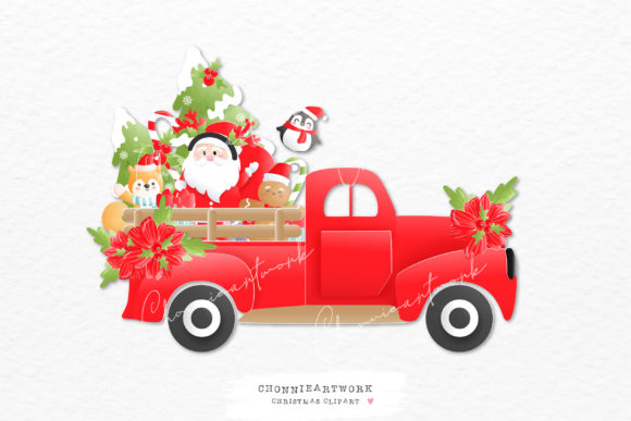 Christmas Clipart, Ai, EPS, PNG Files Graphic Crafts By Chonnieartwork