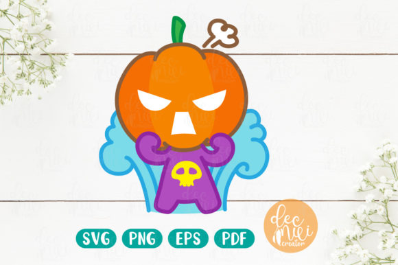 Print on Demand: Cute Pumpkin - Halloween No.03 Graphic Objects By decnui.creator