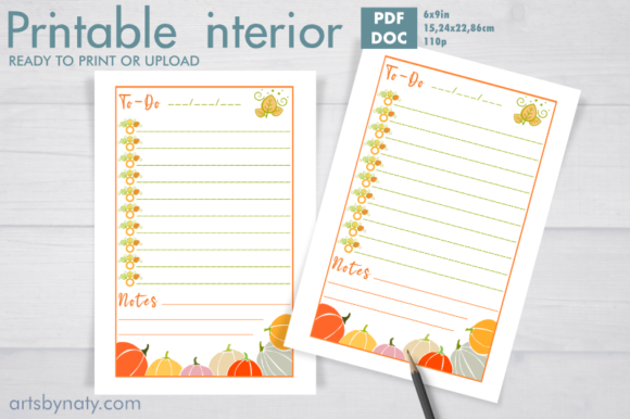 Print on Demand: Fall Thanksgiving to-do List KDP Interio Graphic KDP Interiors By artsbynaty