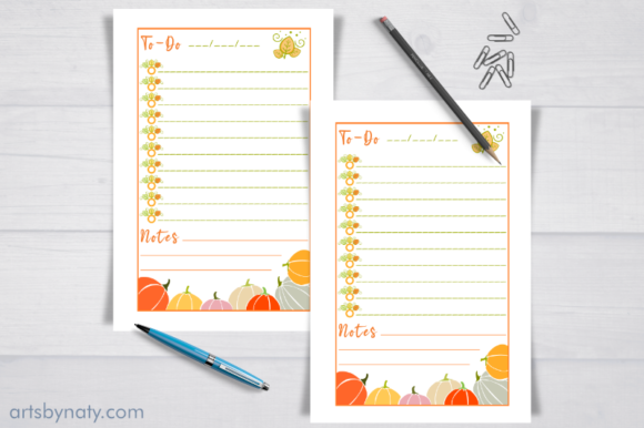 Fall Thanksgiving to-do List KDP Interio Graphic Download