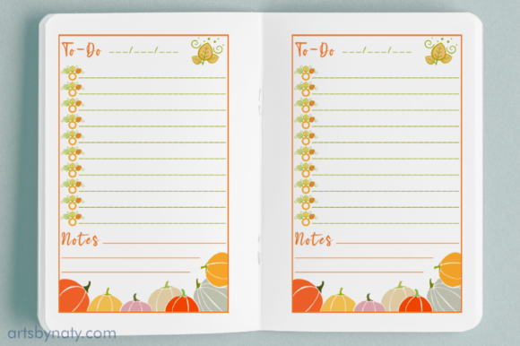 Fall Thanksgiving to-do List KDP Interio Graphic Item