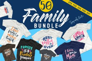 Print on Demand: Family Bundle Quotes Graphic Print Templates By Universtock