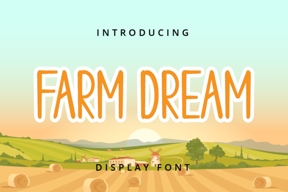 Print on Demand: Farm Dream Sans Serif Font By Planetz studio